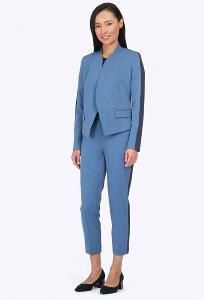 Укороченные брюки спортивно-делового стиля Emka D013/muller