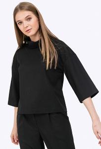 Черная блузка прямого кроя Emka B2268/kenzi
