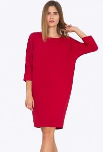 Красное платье прямого силуэта Emka PL729/kenny