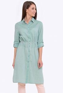 Летнее платье-рубашка из хлопка Emka PL-625/kitti