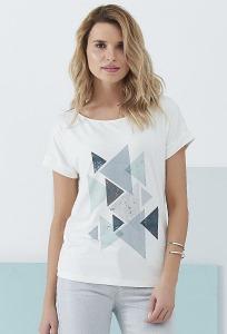 Женская блузка с геометрическим принтом Sunwear Q68-2-13