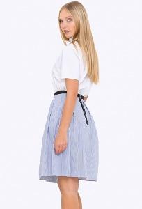 Лёгкая летняя юбка в мелкую полоску Emka 697/aponi