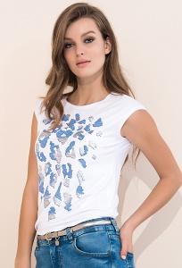 Летняя белая блуза Zaps Nely
