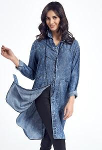 Длинная туника-рубашка под джинсу Ennywear 250059