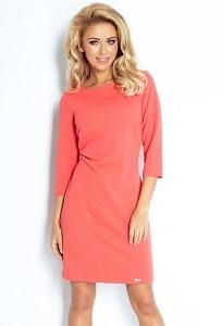 Платье морковного цвета Numoco 107-1