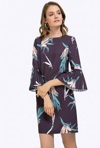 Короткое платье с воланами на рукавах Emka PL848/yustina