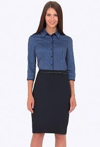 Тёмно-синяя юбка Emka Fashion 656-rishelye