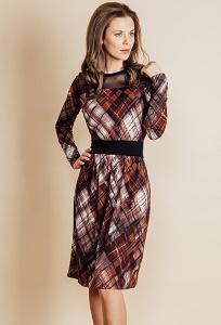 Трикотажное платье TopDesign B6 018