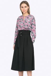 Красивая чёрная юбка с завышенной талией Emka S702/binazir