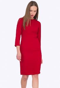 Приталенное красное платье Emka PL751/kenny