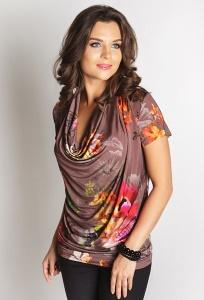 Летняя женская блуза из трикотажа TopDesign LA6 08