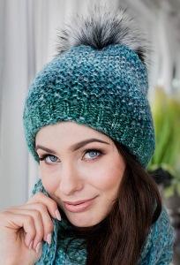 Женская шапка с помпоном Veilo 32.74