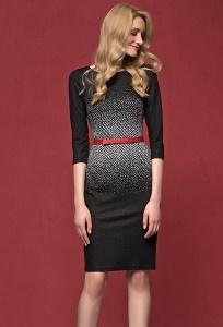Чёрное трикотажное платье Zaps Nubira