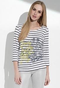 Женская блузка с длинным рукавом в полоску Sunwear I04-4-19