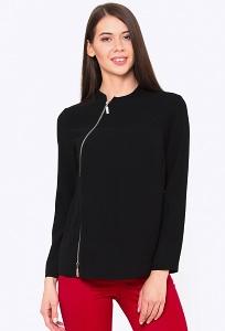 Чёрная блузка на молнии Emka b 2205/carlota