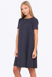 Платье А-силуэта с коротким рукавом Emka PL-667/florika