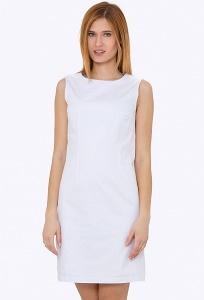 Белое лёгкое платье без рукавов Emka PL-448/aqua