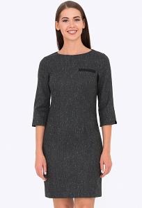 Приталенное платье серого цвета Emka PL-438/zolina