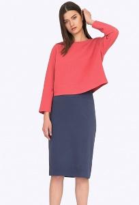 Серо-фиолетовая юбка Emka S605/torn
