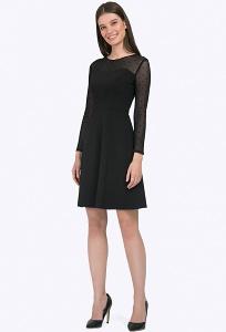 Чёрное вечернее платье креативного дизайна Emka PL710/premiera