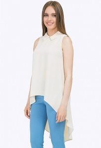 Удлиненная летняя блузка без рукавов Emka B2246/bixi