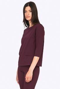 Бордовая блузка с длинным рукавом Emka B2253/tamara