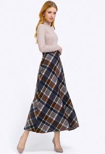 Длинная юбка трапециевидного силуэта Emka S314/gardenia