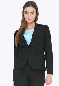 Чёрный женский пиджак Emka ML548/lenora