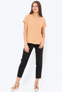 Укороченные брюки чёрного цвета Emka D-018/saida