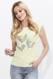 Летняя жёлтая блузка с коротким рукавом Zaps Sewilla