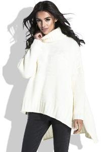 Тёплый женский свитер свободного кроя Fobya F455