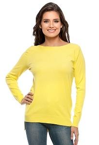 Жёлтый джемпер из тонкого трикотажа ConsoWear KWJS160721