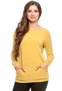 Джемпер горчичного цвета Conso Wear KWJS160722