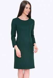 Приталенное платье зеленого цвета Emka PL703/pacific