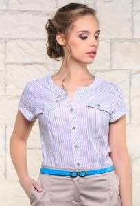 Женская летняя рубашка в полоску Issi 171170