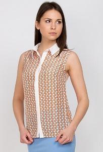 Блузка с белым воротничком Emka Fashion b 2158/confess