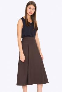Расклешённая юбка коричневого цвета Emka S729/bison
