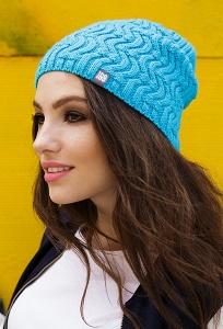 Бирюзовая шапка Brand 69 Inessa