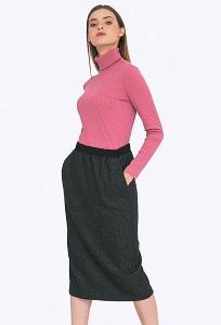 Шерстяная юбка прямого кроя на резинке Emka S713/otrada