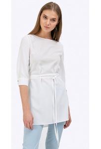 Длинная блузка с тонким поясом Emka B2403/beatrisa