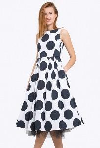 Роскошное платье в крупный горох Emka PL-501/mari