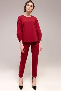 Красные женские брюки TopDesign B7 013