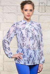 Романтичная блуза рубашечного кроя Issi 171164