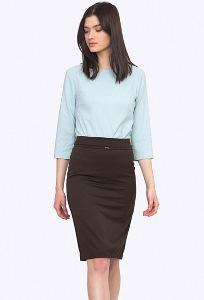 Коричневая юбка с подкладом Emka S369/alisson