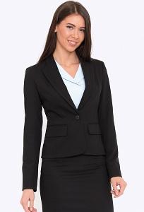 Чёрный офисный жакет для деловых дам Emka ML-511/milisa