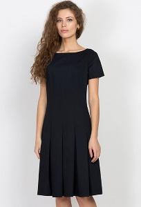 Чёрное платье Emka Fashion PL-473/shelbi