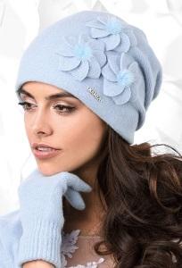 Женская двойная шапка с драпировкой Kamea Teramo