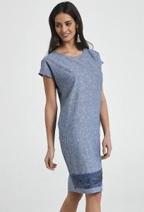 Льняное летнее платье синего цвета Ennywear 250102