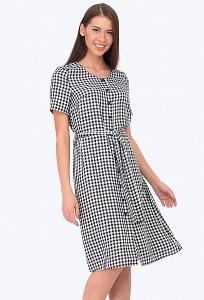 чёрно-белое летнее платье 2017