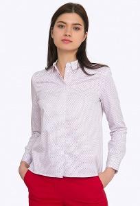 Женская рубашка в мелкий горошек Emka B2234/dali